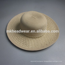 Chinese adults plain paper straw hat