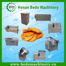 Linha de produção fresca diferente das microplaquetas de batata da forma 60kg / h de BEDO