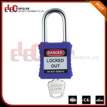 Elecpopular China Goods Cheap PA Plastic Lock Out cadeado de segurança Wth Master Key