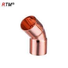 J 17 4 10 codo de la instalación de la tubería de gas del tubo de la instalación de la refrigeración colocación de la tubería del codo de 60 grados