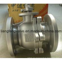 Válvula de bola de extremo de brida RF con acero inoxidable