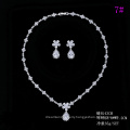 Set-189 Xuping fashion silver color jewelry elegant design two pieces white gold color wedding jewelry set