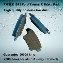 Ford Taurus OE calidad de la pastilla de freno trasera D1071