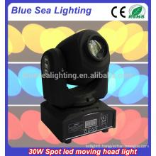 30 w led mini moving head spot light patterns