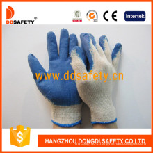 Cotton Latex Coating Smooth Finished Safety Working Glove Dkl315