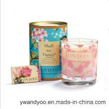 Bougie en verre parfumée décorative de soja