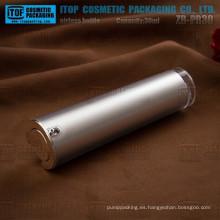 ZB-PR30 cosmeticos de 30ml embalaje de buena calidad de la forma cónica redonda color personalizable 1 oz plata airless botella