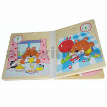 Wooden Clock Book for Learning Time (80891)