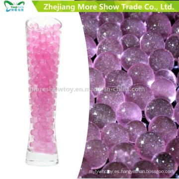 El grano cristalino caliente del agua del suelo del brillo de la venta rebordea la decoración de la boda