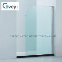 Cuarto de baño curvado esquina de la pantalla de la bañera / bordes redondeados ducha pantalla (CVP009)