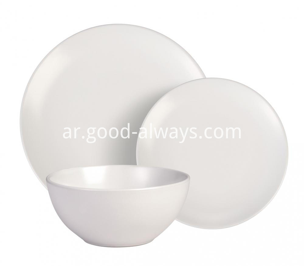White Color dinnerware set