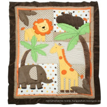 Bed Sheet Patchwork Quilt with Elephant Lion Design Cool for Baby