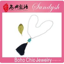 Boho Style bijoux à la main noir gland collier de Bouddha bouddha bijoux
