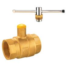 J9280 válvula de bola de gas de latón con cerradura