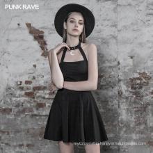 OPQ-509 PUNK RAVE  Punk Sexy Short Sleeve Dress summer casual fashion dress