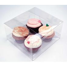 Изготовленный на заказ складывая пластичные коробки Стикерами для торта (контейнер ПЭТ)