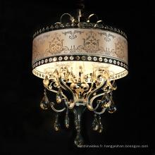 Vente chaude à la main ovale forme petite taille cristal romantique pendentif lumière pour la décoration