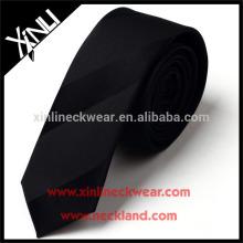 Laço magro de seda preto tecido feito a mão limpo do Jacquard de 100% seco apenas seco
