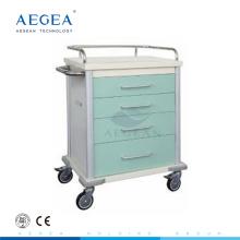 Hot sale ! AG-MT027 hospital medical color-steel metal rolling cart for sale