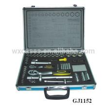caja de herramientas de aluminio azul con encargo de la espuma se introduzca en el inferior