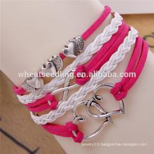 2014 trendy multilayer Fashion mens leather bracelet