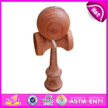 En bois intéressant Kendama en gros, drôle meilleur jouet en bois de qualité Kendama, jouet en bois Kendama avec 18.5 * 6 * 7cm W01A023