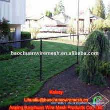 4 'x 50' valla de enlace de cadena residencial de vinilo negro de 9 grados