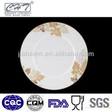 ZH001 Schöne anmutige Porzellan Keramik flache Platte