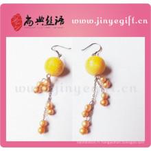Guangzhou Craft Bijoux Nouveauté Femmes Boucles d'Oreilles Perles