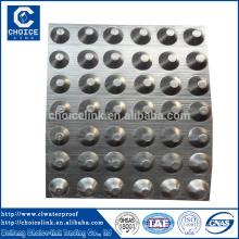 Plastic composite dimple geomembrane drainage board