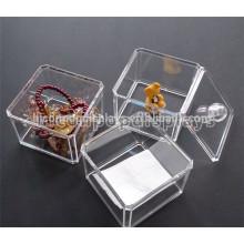 Joyería Muebles Diseño Contador Top Pequeño Cuadrado Transparente Acrílico Caja De Joyería
