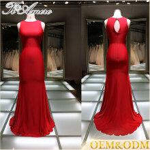 Vestido de casamento feito sob encomenda Vestido de noiva de casamento de tule Vestido de baile New Arrivals 2016 Elegant Red Evening Dresses