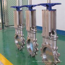 China fez preço baixo de alta qualidade manual API gás natural válvula de porta de faca com alavanca