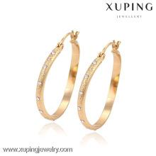 90483 xuping 18k gold plated jewelry fancy wholesale hoop earring