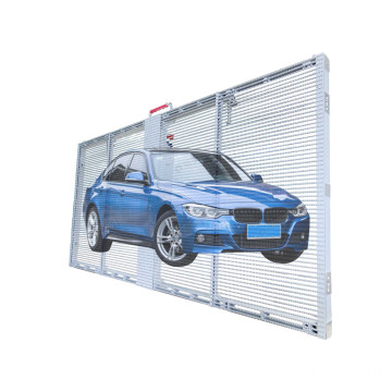 Semi Outdoor Transparente LED-Werbetafel