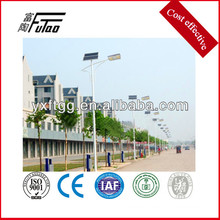 Solar led light pole, poste de luz de acero galvanizado