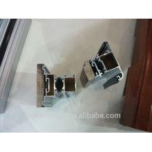 Perfis de janela em alumínio para revestimento de madeira