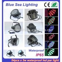 54pcs x 3w этап свет дискотека оборудование IP65 пар 56 привело бассейн огни