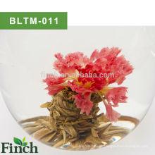 Chá de arte chinesa rosa Calendula feito flor florescendo bola de chá verde