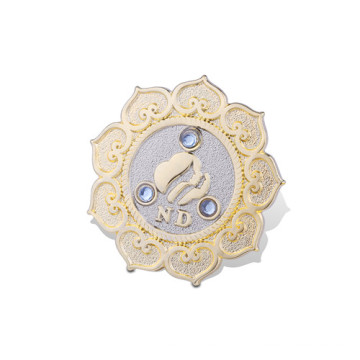 Пользовательской металла badge при Покрынное золото (GZHY-ЛП-017)