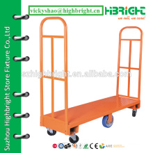 warehouse logistics carts,hand tools trolley,two tiers warehouse cart for luggage carrying