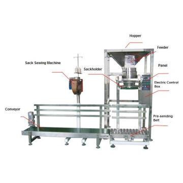 Sistema semiautomático de embalaje de la bolsa de harina de trigo