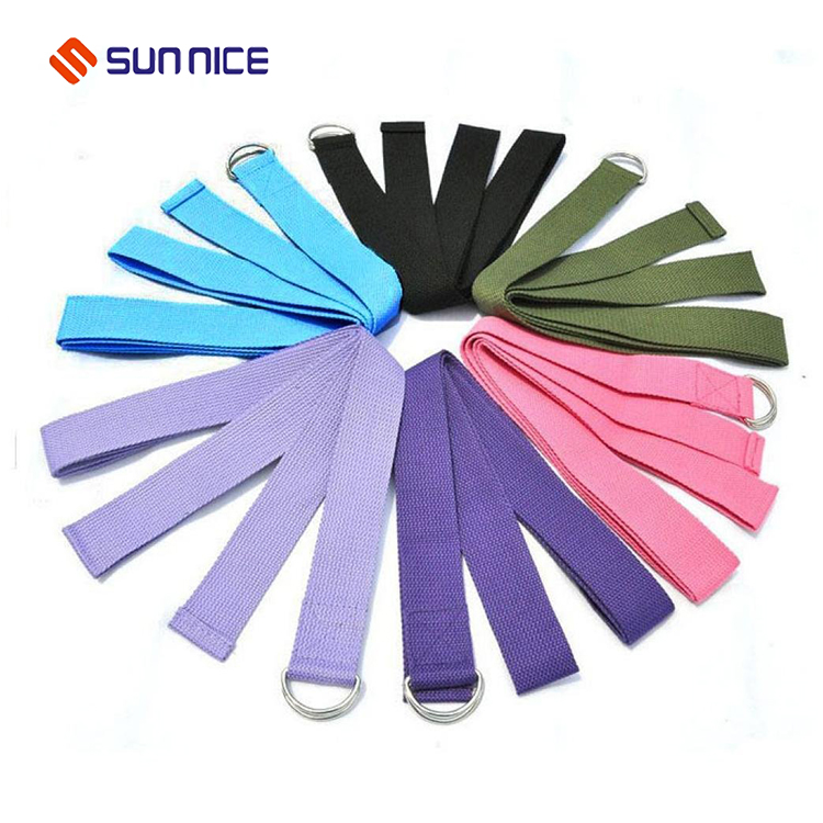 colorful yoga strap