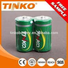 Tamaño D 1,5 v de la batería de zinc carbón
