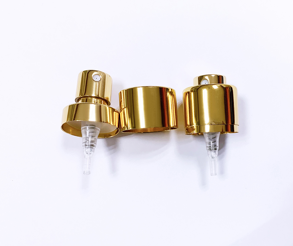 Shiny Gold Perfume Pump With Collar