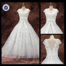 New Arrival Custom Graceful Sexy Diamond Sheath Strapless A-Line com faixa branca Bow Sweep Train vestido de casamento nupcial WA00093
