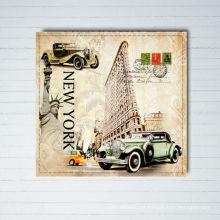 Pinturas de la lona del diseño de New York City del vintage con la impresión enmarcada de la imagen del arte de la lona