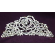 Мода сплава Свадебная Tiara Custom Высокое качество блестящей Crystal Bridal короны