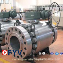 ASTM Three Pieces Forged Steel Trunnion Mounted Ball Valve