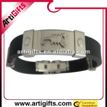 silicone bracelet stainless steel bracelet clasp
